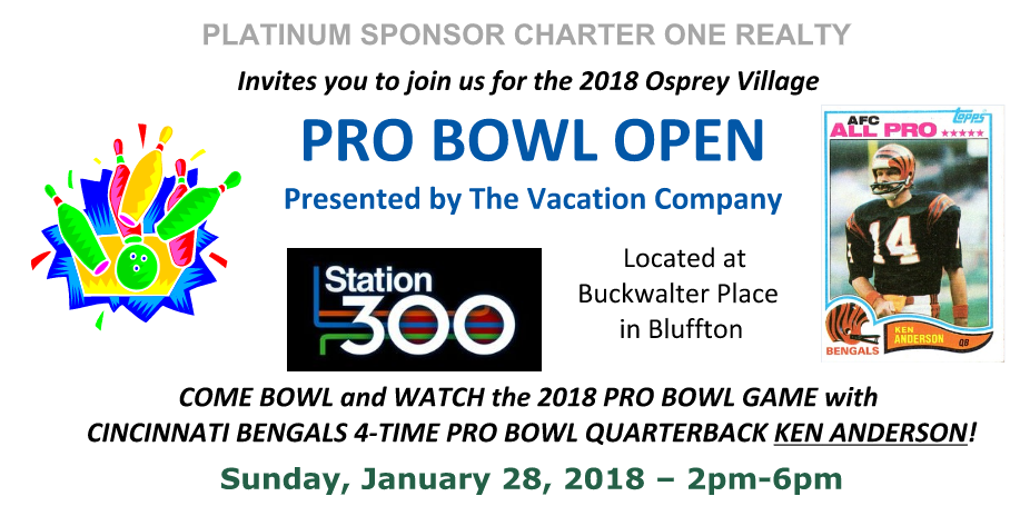 2018 Pro Bowl Event January 28, 2pm - 6pm
